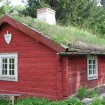 This sod-roof house can be found at Skansen, Stockholm's living air museum. Historical homes from around Sweden have been preserved and moved to Skansen.