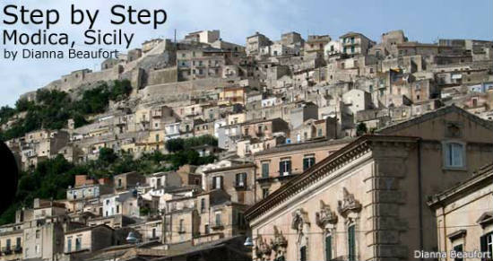 Modica Italy  City new picture : Modica's churches are linked by a maze of steep slopes and stairs.