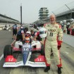 A happy customer at the Indy Racing Experience. Photo by Indy Racing Experience