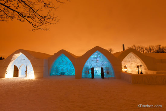 The Ice Hotel is built from scratch each year, using a new design and theme.