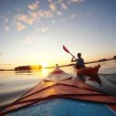 A sunset kayak trip in the Lakeland region, which occupies most of central and eastern Finland. Photo courtesy Visit Finland